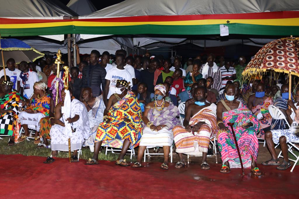 Akufo-Addo cuts the sod for construction of waste-plant, stadium in Oti Region